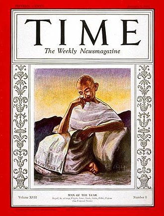 Time Person of the Year - Image: Gandhi Time cover 1931