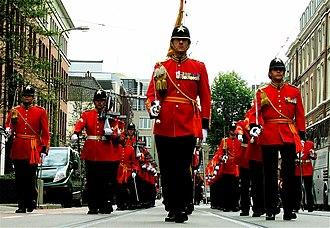 Garderegiment Fuseliers Prinses Irene - Fusiliers in The Hague on Prinsjesdag 2008