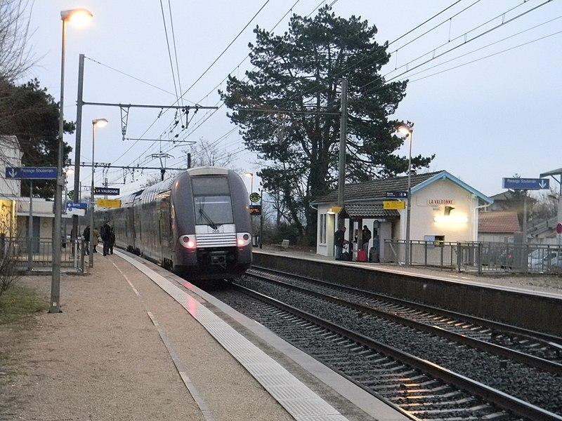 Gare de La Valbonne, dans l'Ain.