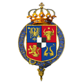 Garter encircled arms of Carol I, King of Romania.png