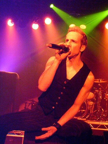Vocalist Gary Cherone (pictured in 2008) joined the band briefly in the late 1990s Gary Cherone-Extreme-2.jpg
