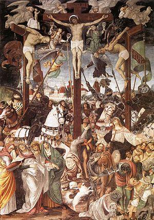 Gaudenzio Ferrari - Gaudenzio Ferrari, Crucifixion, 1513, fresco, Santa Maria delle Grazie, Varallo Sesia