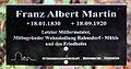 Gedenktafel Fürstenwalder Allee 93 (RahndWil) Franz Albert Martin.jpg