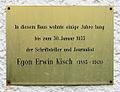 Gedenktafel Güntzelstr 3 (Wilmd) Egon Erwin Kisch.JPG