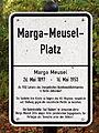 Gedenktafel Marga-Meusel-Platz (Zehld) Marga Meusel.jpg