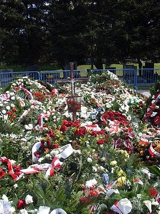 Franciszek Gągor - Grave of Franciszek Gągor after burial