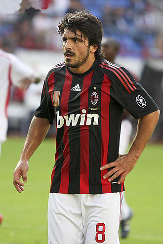 Gennaro Gattuso - Gattuso playing for Milan in 2008