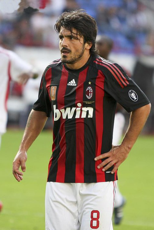 50c8677aa5c Gattuso playing for Milan in 2008