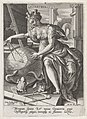 Geometria, Johann Sadeler (I), after Maerten de Vos, Cornelis Cort, and Frans Floris (I), 1560 - 1600, engraving, 15.0 by 10.6 cm.jpg