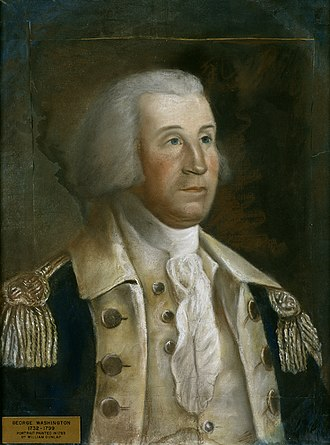 Rockingham (house) - George Washington, painted by William Dunlap during Washington's stay at Rockingham.