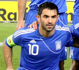 Giorgos Karagounis - Karagounis captaining Greece in 2010