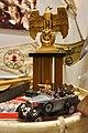 German Third Reich propaganda items. Nazi Reichsadler eagle; miniature Mercedes car model, Hitler and SS staff figurines, Berlin 1936 pennant, etc. Lofoten Krigsminnemuseum 2019-05-08 DSC00331.jpg