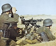 German soldiers with MG 34