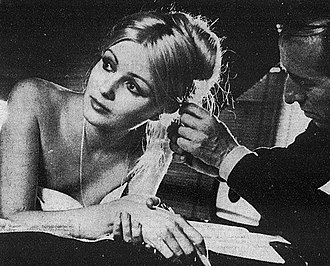Pamela Tiffin - Tiffin in 1971 on the set of Italian giallo movie The Fifth Cord