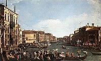 Giovanni Antonio Canal, il Canaletto - A Regatta on the Grand Canal - WGA03891.jpg