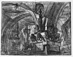 Giovanni Battista Piranesi - Le Carceri d'Invenzione - First Edition - 1750 - 15 - The Pier with a Lamp.jpg