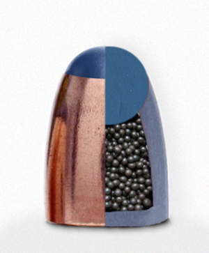 Plastic-tipped bullet - Artist's conception of the inside of the Glaser Safety Slug.