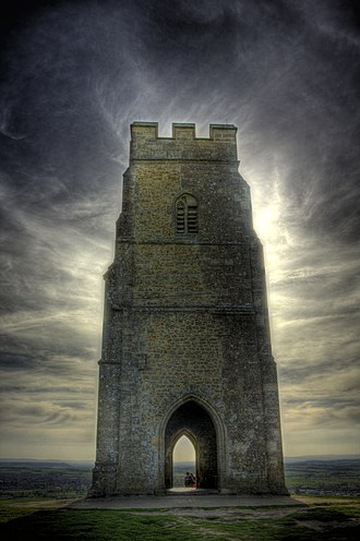 Land of Maidens - St Michael's Tower at Glastonbury Tor in 2009
