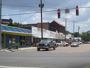 Tallulah, Louisiana - Part of downtown Tallulah