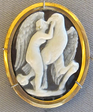 Carving Roman Venus with the eagle, Sardonyx, the first century AD