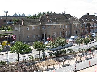 railway station in Glostrup Municipality, Denmark