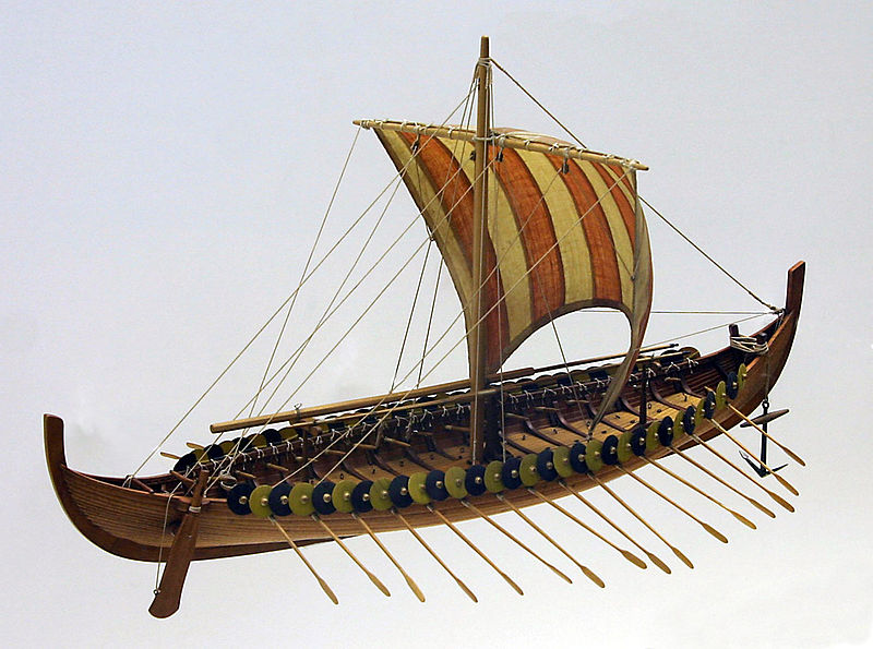 Tiedosto:Gokstad-ship-model.jpg