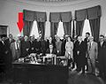 Gordon H. Scherer and others at White House 1961-6-29.jpg