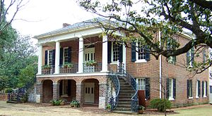 Gorgas–Manly Historic District - Gorgas House, completed in 1829.  The portico was added in 1853 and expanded to its current width in 1896.