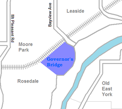 Location of Governor's Bridge
