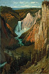 View of the Lower Falls, Grand Canyon of the Yellowstone