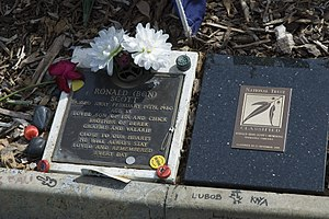 Fremantle Cemetery -  The grave of Bon Scott is a much visited national monument.