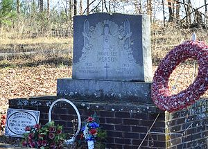 Murder of Jimmie Lee Jackson - Grave of Jimmie Lee Jackson