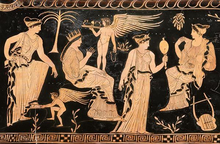 Greek Eros vase