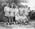 Group portrait of Bikini Resurvey scientists who studied under Dr L P Schultz, Bikini Atoll, summer 1947 (DONALDSON 294).jpeg