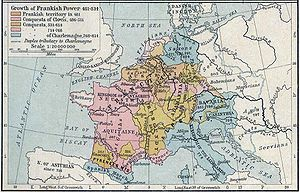 Višeslav of Croatia - Map is showing growth of Frankish power from 481–814, with Croatia on the right.