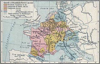 Siege of Trsat - Image: Growth of Frankish Power, 481 814 Edit