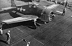 Grumman F6F Hellcat of VF-8 aboard USS Bunker Hill (CV-17), in 1944.jpg