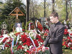 Flowers at Yeltsin's grave