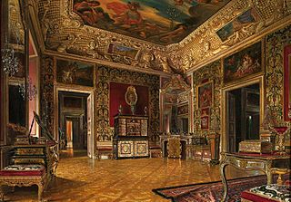 Queen's Bedroom in the Wilanów Palace.