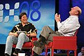 Guy Kawasaki and Steve Ballmer during MIX08 keynote (2314710913).jpg