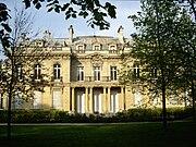 Hôtel Salomon de Rothschild, façade côté jardin