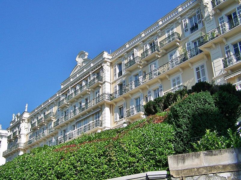 Sight of Hôtel Splendide (or Palace Splendide), in Aix-les-Bains, Savoie, France.