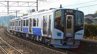 Senseki-Tōhoku Line - A Senseki-Tōhoku Line HB-E210 series hybrid DMU train