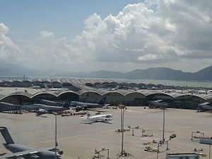 Hong Kong International Airport - outside