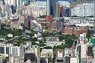Hong Kong Polytechnic University - Hung Hom campus, viewd from the west