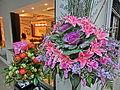 HK 上環 Sheung Wan evening 差館上街 11 Upper Station Street restaurant Nosh Tai Ping Shan Street Nov-2013 flowers.JPG