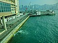 HK 尖沙咀 TST 海港城 Harbour City view Victoria Harbour Star Ferry Piers n Star House n waste water output Mar-2013.JPG