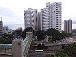 HK 香港南區 Southern District 薄扶林道 Pokfulam Road 瑪麗醫院 Queen Mary Hospital footbridge evening June 2019 SSG 02.jpg
