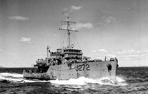German submarine U-190 - HMCS Esquimalt in 1944