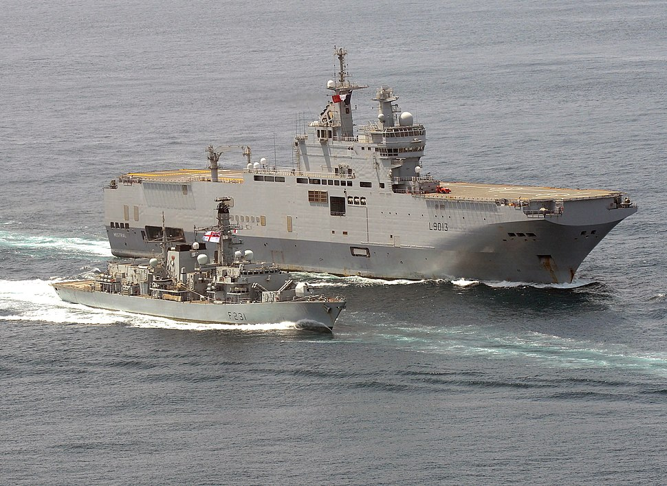 HMS Argyll with the French Ship FS Mistral MOD 45155266